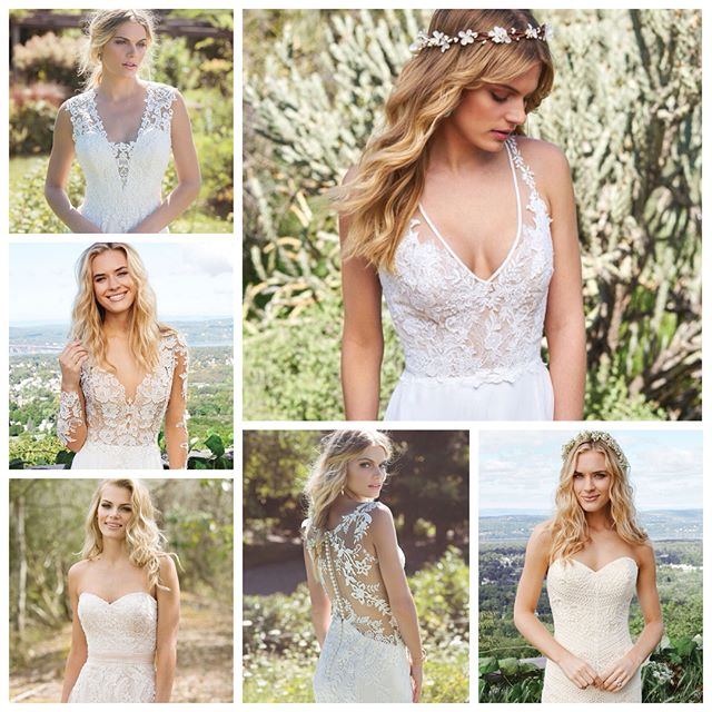 We are lovin' these #bohostyle #bohochic #wedding #dresses @bylillianwest 💕👰🏻 Make your appointment to try them on during our #trunkshow one weekend only May 5-6! 10% discount plus free shipping with your special order.