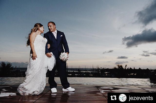 #Repost @jezevents 💖👰🏽💍🤵🏽 ・・・ We love this photo of Tasha & Casey from their wedding day last week Saturday! Photo by @islemedia 📷. @casablancabridal style 2295 #jade was Tasha's choice and she rocked this #extra beaded #fitandflare #weddingdress 💕🙌🏽💎