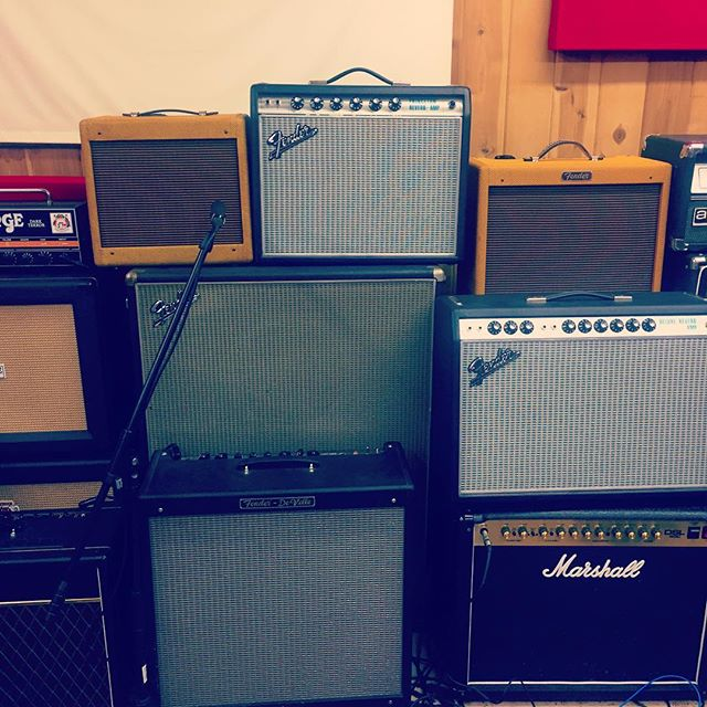 Amps on amps.