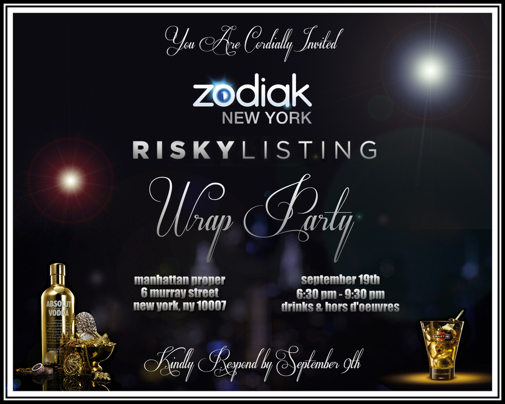 "INVITATION FOR THE ESQUIRE NETWORK'S ""RISKY LISTING"" WRAP PARTY"