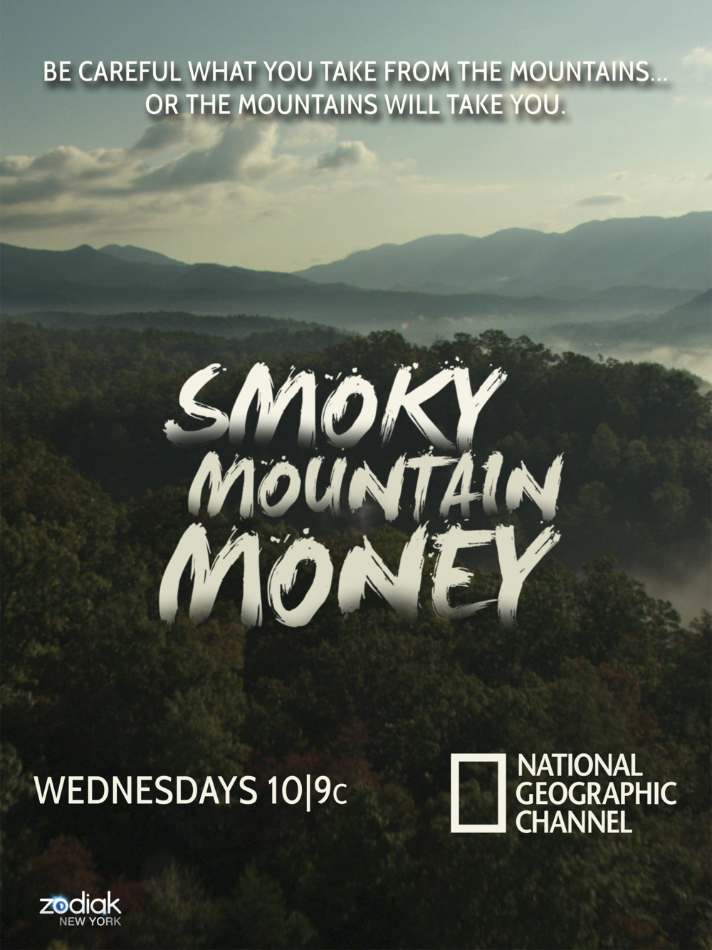 "SHOW POSTER FOR NATGEO'S ""SMOKY MOUNTAIN MONEY"""