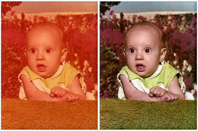 This baby pic was in need of some serious TLC. After I did a bit of color correcting, it's like a whole new photo! Got some pictures that could use restoring? Contact me now for pricing! 👶🏼 📷🎨 . #shiradanielsdesign #beforeandafter #photorestoring #photoretouching #photorestoration #colorcorrection #babypic #familyphotos #fix #restore #retouch #photography #design #designer #graphicdesigner #graphicdesign #graphicdesigns