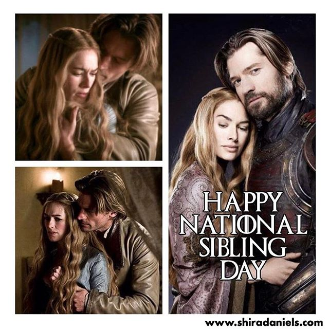 Happy National Sibling Day...🤢🏰 . #shiradanielsdesign #gameofthrones #got #nationalsiblingday #siblingday #siblings #cerseilannister #jaimelannister #eww #hbo #graphicdesign #graphicdesigner