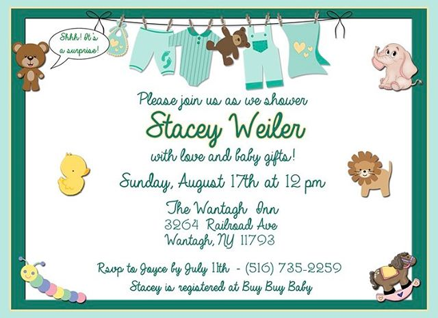 Did you know we design invitations? Baby showers 👶🏼, birthdays 🎁, bar mitzvahs 🎉, weddings 💍, divorces 😩... ANYTHING! Check out this design we did for a surprise, gender neutral baby shower! 🐥🐒🦁 . . #shiradanielsdesign #invitations #babyshower #boyorgirl #party #parties #invite #invitation #surpriseparty #surprise #baby #design #designer #graphicdesigner #graphicdesign #graphicdesigns #artist #photoshop
