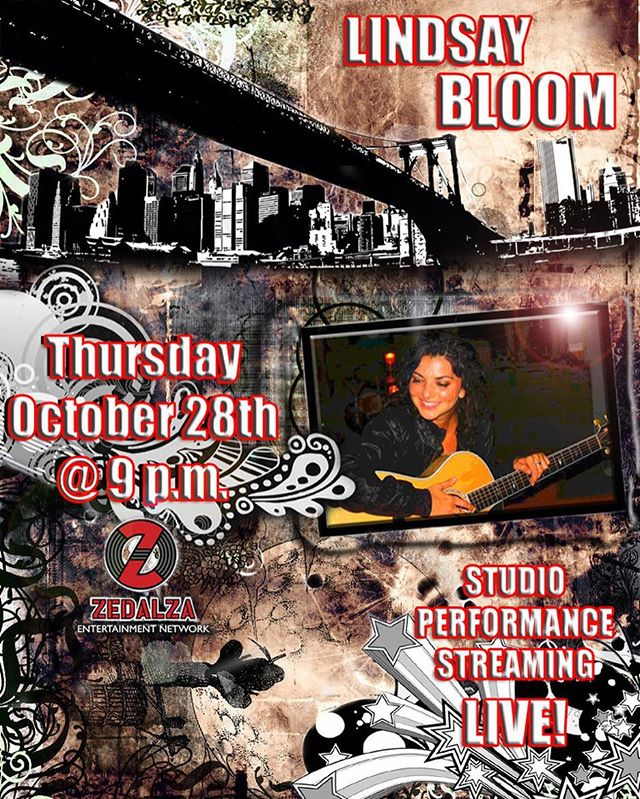 Live-In-Studio performance poster for singer/songwriter @bloom1322, as heard on @ZedalzaNYC 📡🎸🎙 . 💻🎨: @shiradanielsdesign . #shiradanielsdesign #lindsaybloom #zedalza #concert #music #live #livemusic #radio #studio #liveinconcert #indiemusic #indie #musician #artist #photoshop #design #designer #graphicdesigner #graphicdesign #graphicdesigns #graphicdesigners #graphicdesigncentral