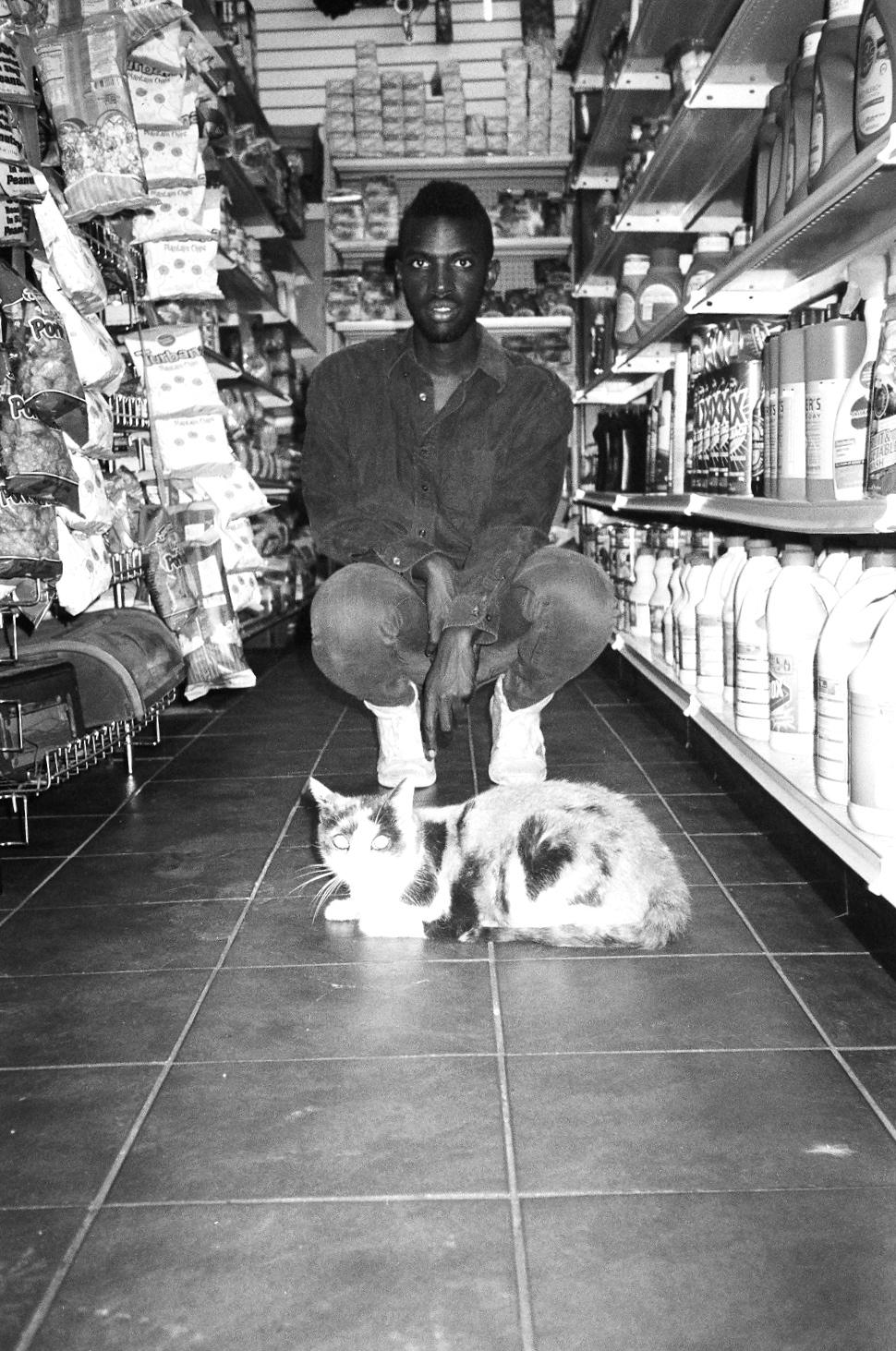 Wayne and cat