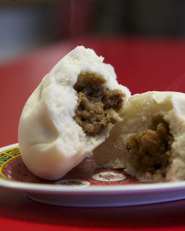 Banh Bao   Our very own steamed bun with bbq pork stuffing |  $2.50