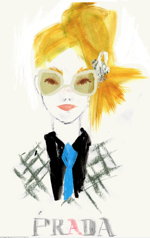 Julia Denos PRADA Fashion Illustration