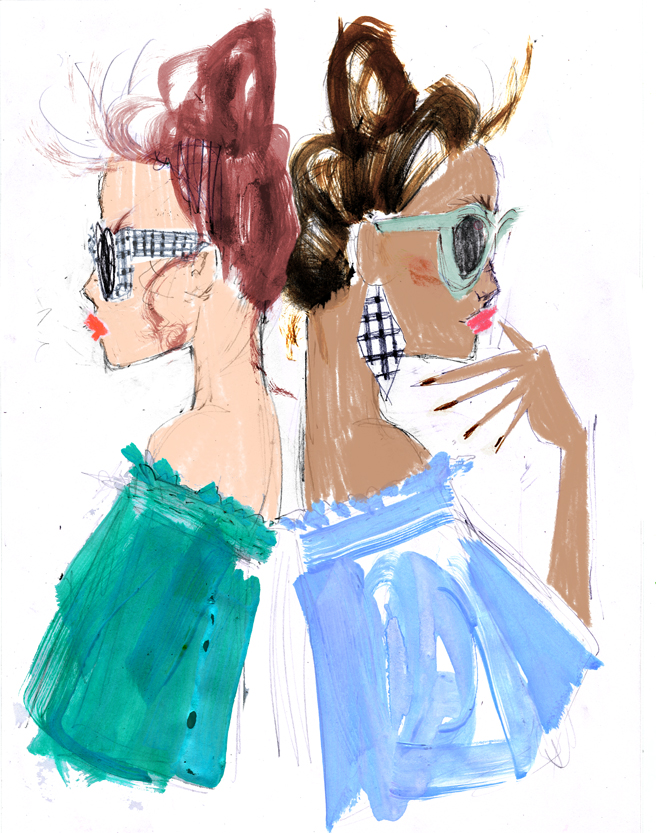 Julia Denos J.Crew Fashion Illustration