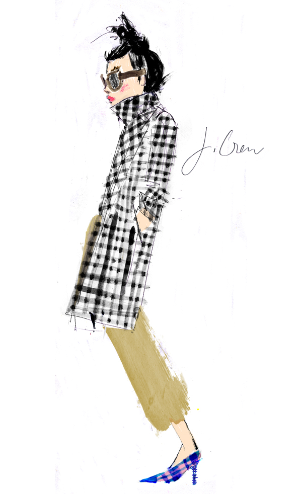 Julia Denos J.Crew illustration