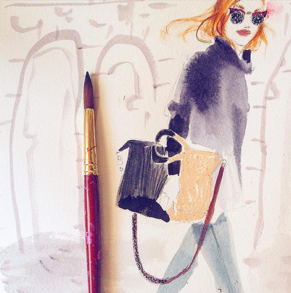 Julia Denos Ann Taylor Loft Fashion Illustration