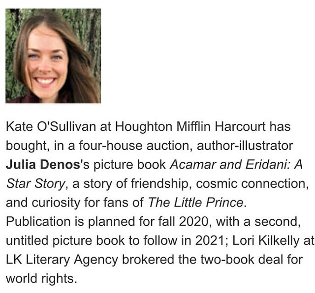 🌟NEWS!🌟 I'll be making a  new book, ACAMAR + ERIDANI, A Star Story, to be published Fall 2020 with @hmhkids and the luminous @keaosullivan 🌌! ✨✨✨ Constellations aligned thanks to the bright-burning mega star agent  @lkliterary ✨✨🌌