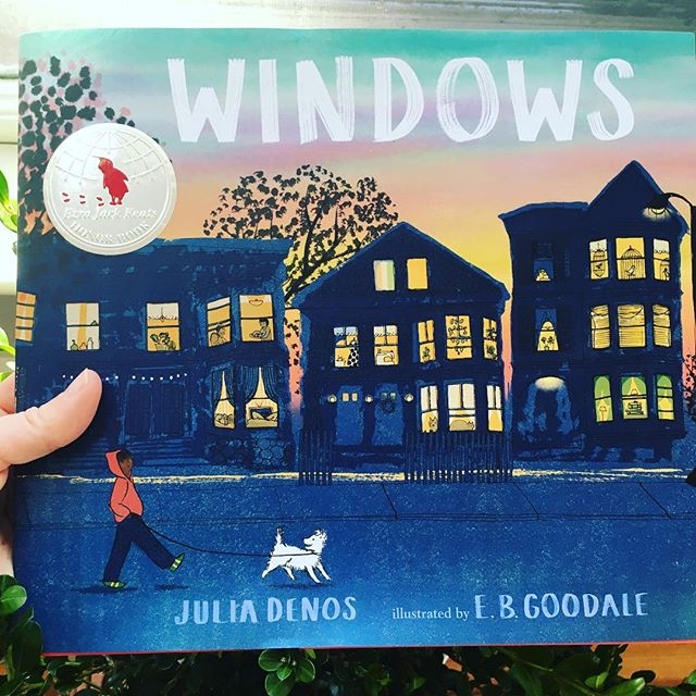 To say I am proud of @ebgoodale is an understatement. Let's cheer for the hardworking woman who is currently printing her heart out in her basement one town over, making her next book. Thanks to @candlewickpress for sending the first stickered copies I've held! And to @ezrajackkeatsfoundation for celebrating EB's vision and handiwork. 🌟🌟🌟 Heart is full! ❤️ #kidlit #ezrajackkeats #magic #windowsbook2017 #candlewickpress