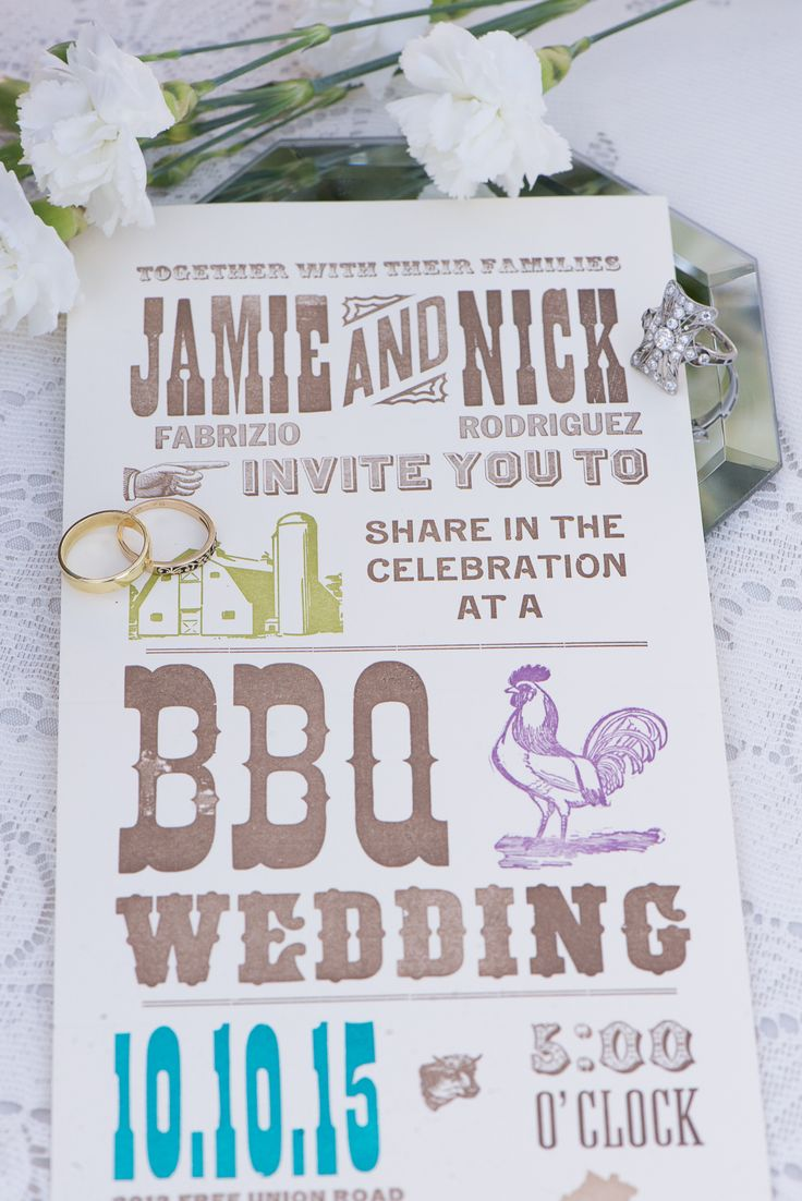 BBQ Themed weddings are extremely popular and cost-effective.