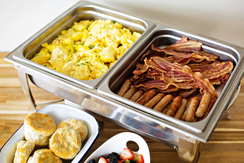That meeting will be bearable with our hot breakfast