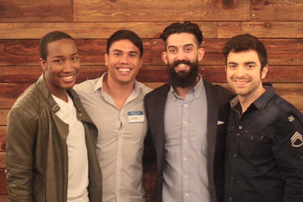 Left to Right:  Omari McNeil ,  Jobob Taeleifi , Brian Harrington, and Lucas Miles  pc:  Michael Henderson