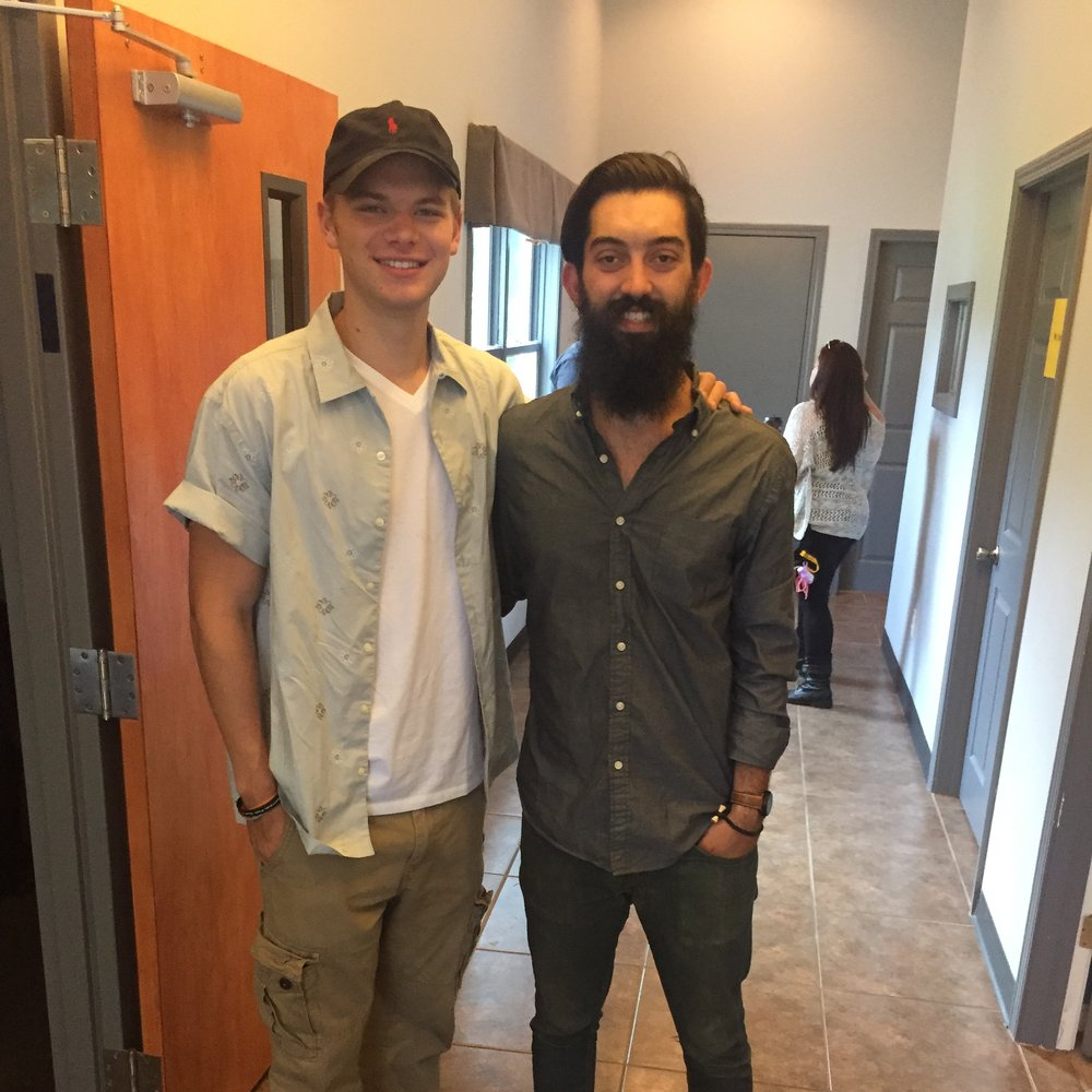 Brian Harrington with Kenton Duty.JPG