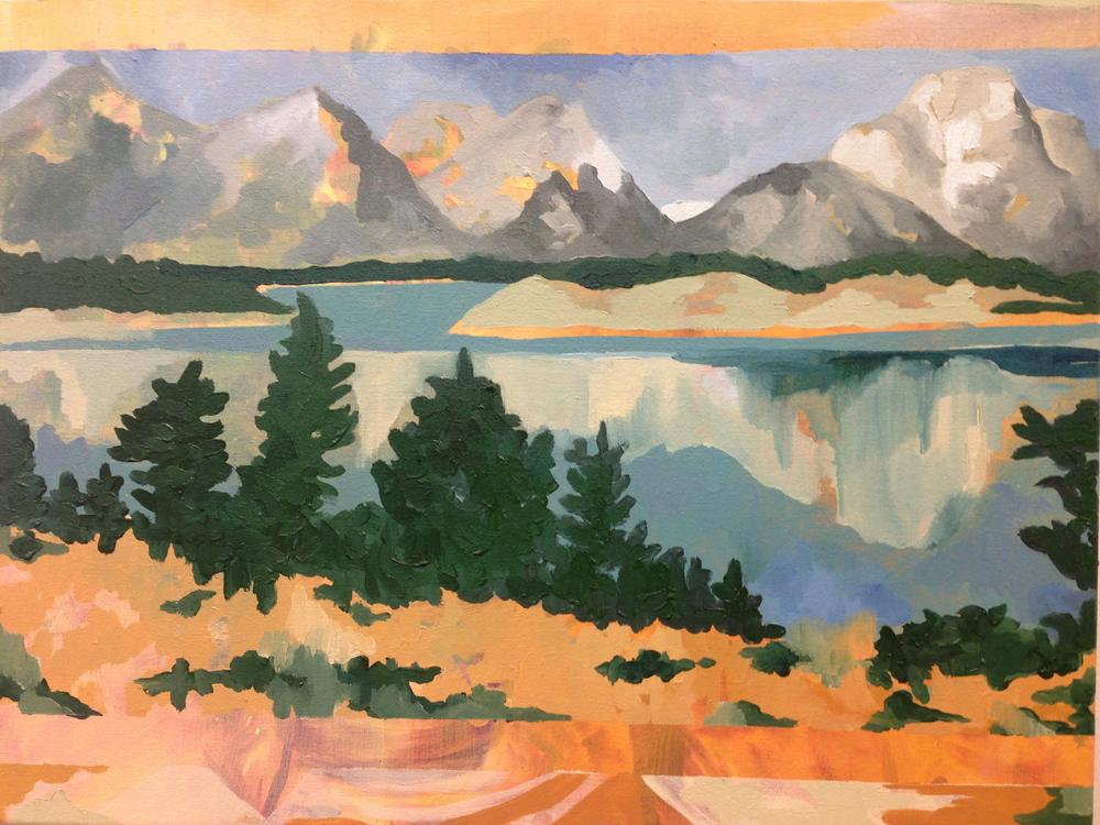 The Teton Range in Grand Teton National Park