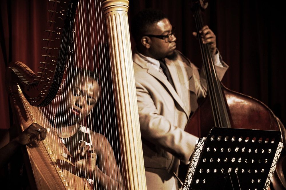 Brandee Younger, harp; Dezron Douglas, bass. City Winery, NYC