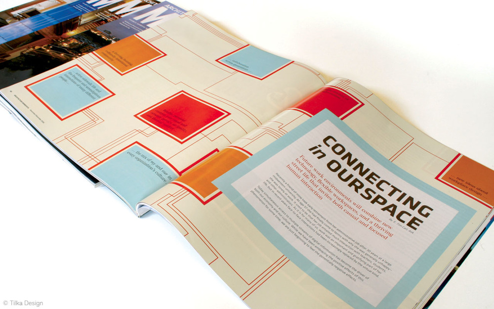 Magazine Design  Award-winning article design for  Architecture Minnesota  magazine, created as part of the collaborative team at  Tilka Design .
