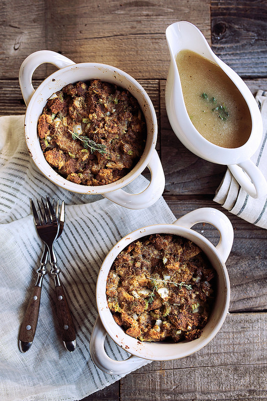 Single-Serve Gluten-free Classic Sausage and Bread Stuffing from Tasty Yummies