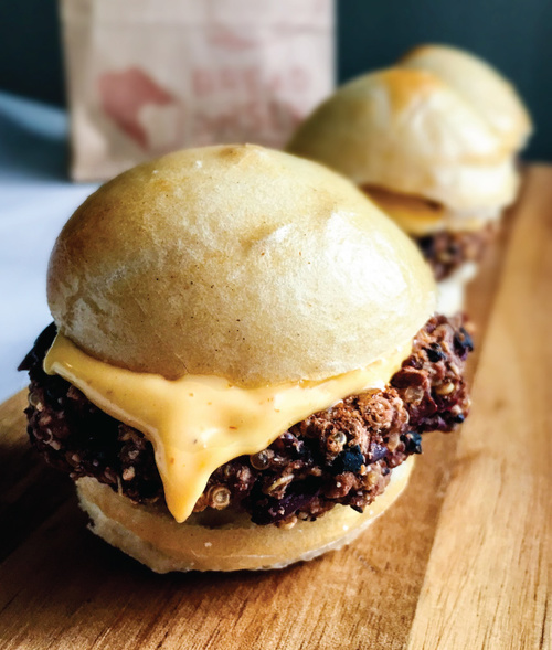 GF Black Bean Quinoa Sliders