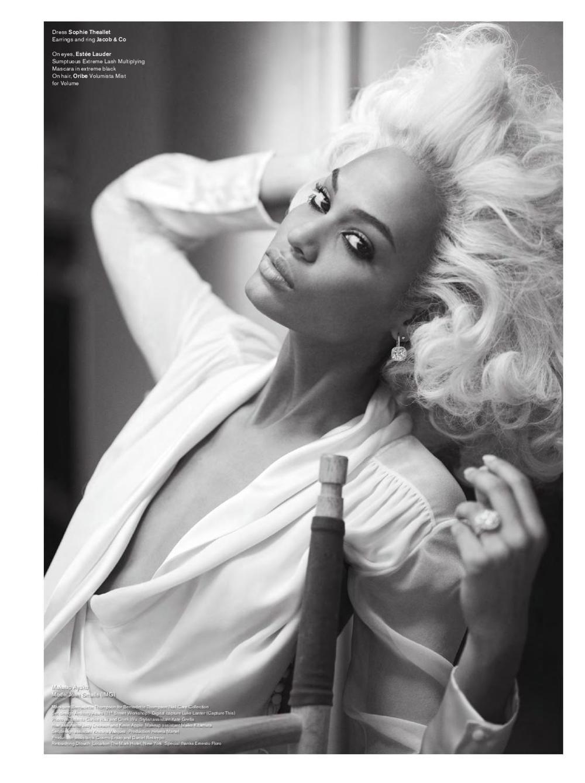 Joan Smalls, styled by Carlyne Cerf de Dudzeele, photo bySebastian Faena - V magazine - Fall 2011