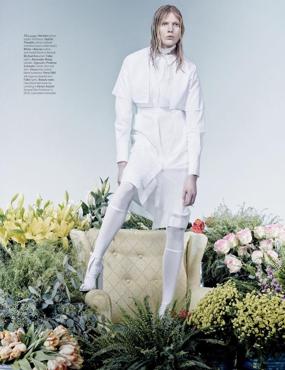 Iselin Steiro -photo by Craig Mc Dean, styled by Edward Enninful- W magazine - March 2013