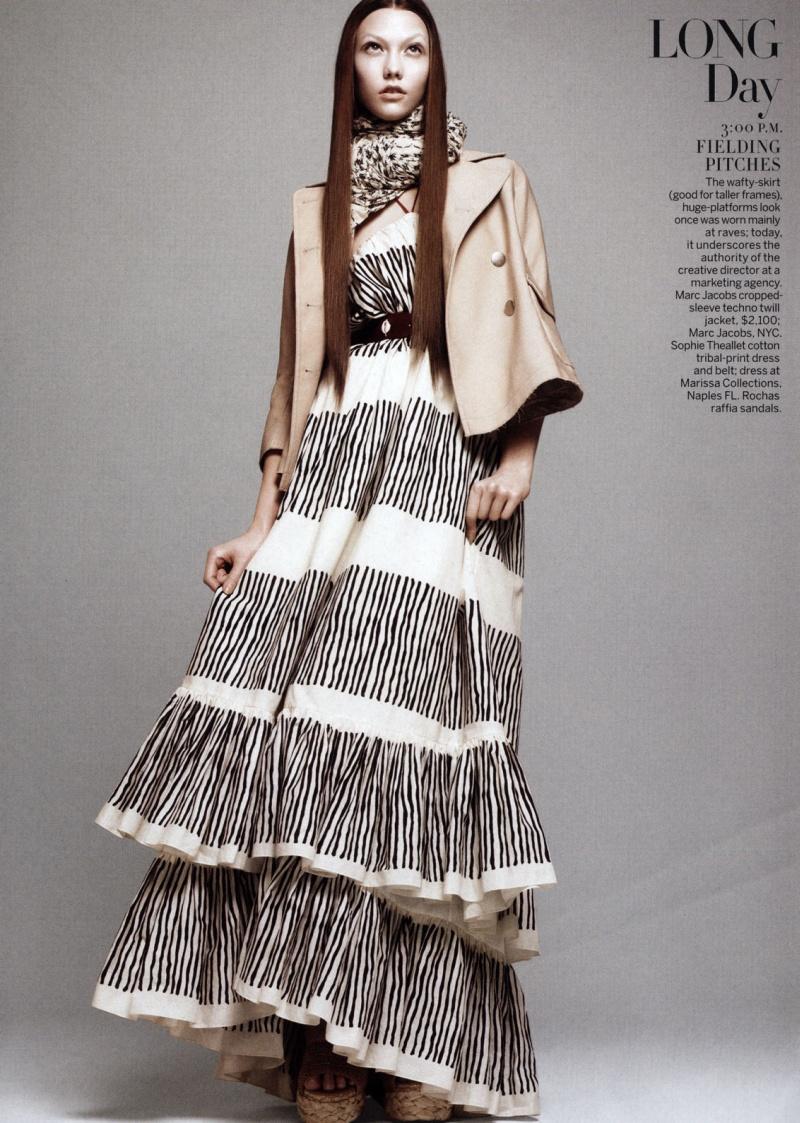 Karlie Kloss, photo by David Sims - Vogue US - April 2010