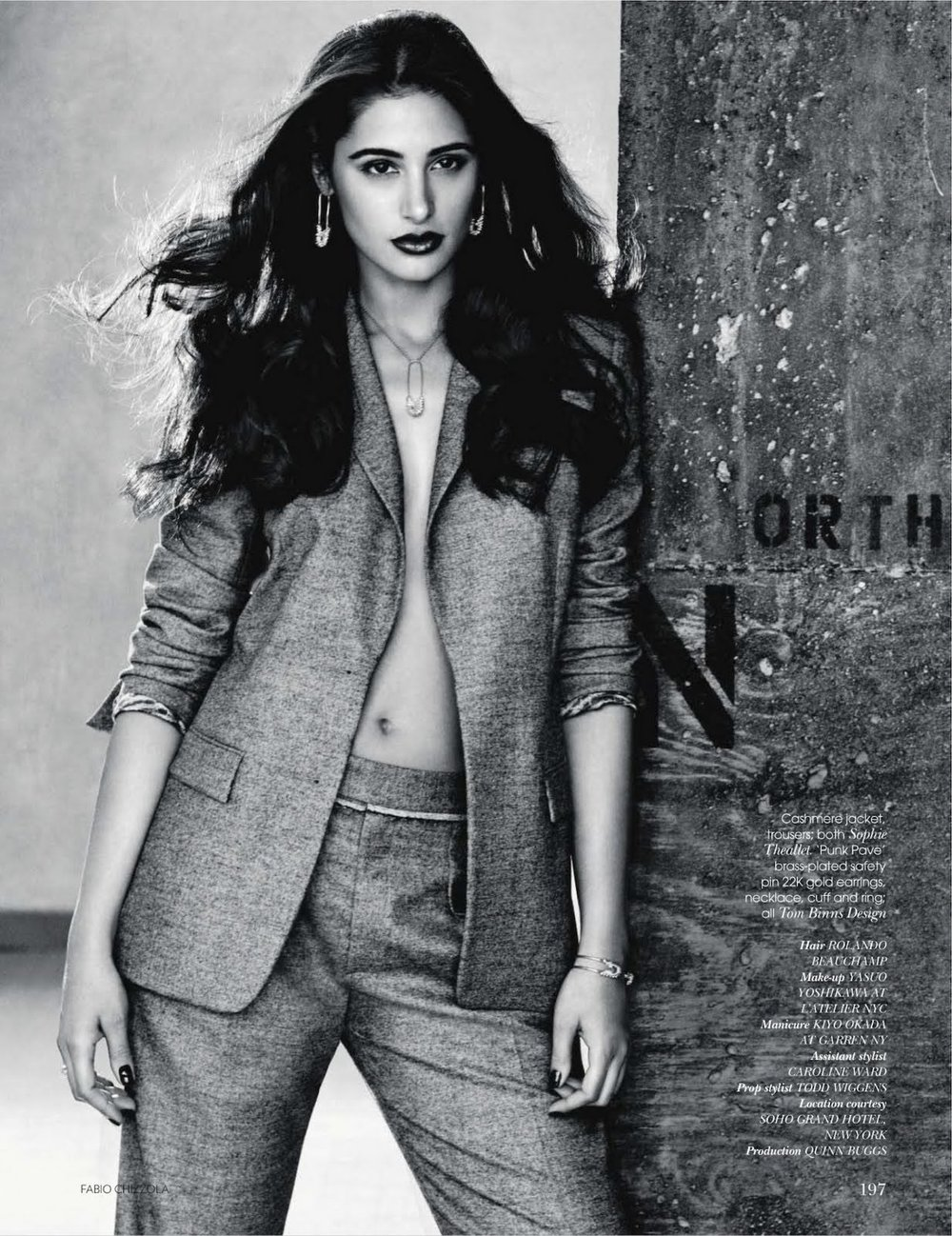 Nargis Fakhri, photo by Fabio Chizzola - VOGUE India - September 2011