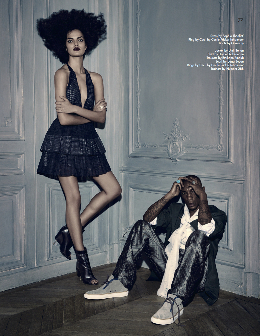 Tricky & Barbara Fiahlo, photo by Chris Craymer,Styling by Jenke-Ahmed Tailly - UBIKWIST