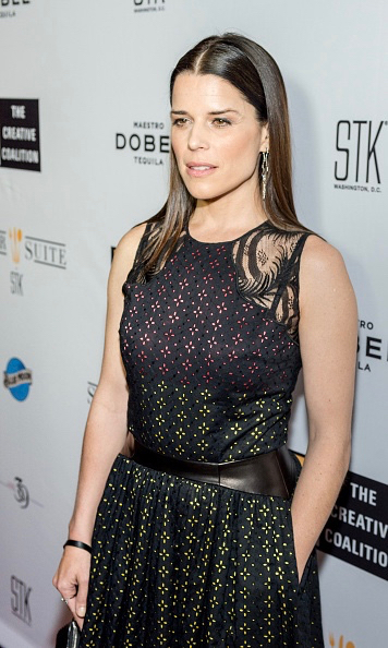 Neve campbell in sophie theallet at The Creative Coalition's 2016 %22Night Before Dinner%22.jpg