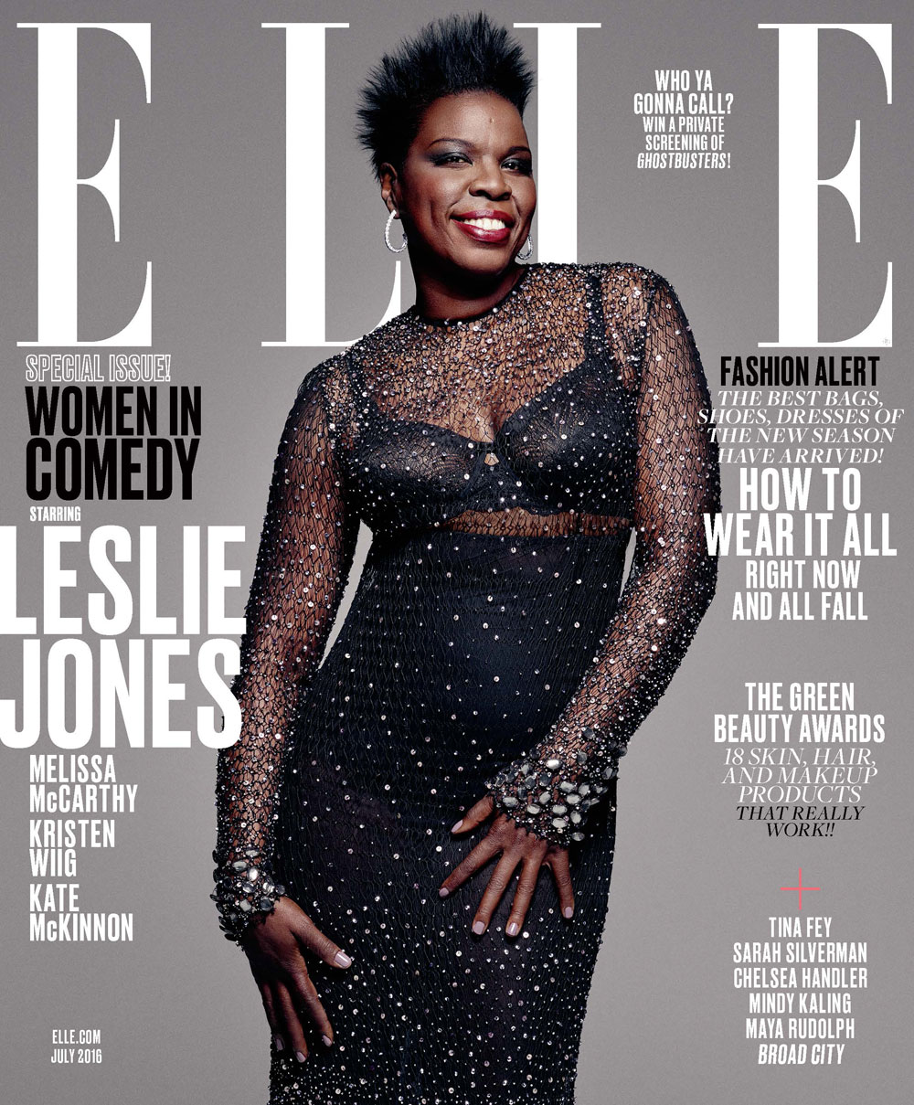 Leslie Jones, photo by Mark Seliger, styled by Samira Nasr - ELLE July 2016