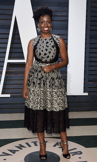 Adepero Odueye wearing sophie theallet vanity fair oscar party.png