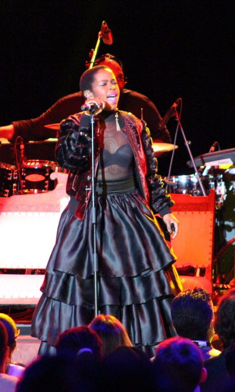 Ms Lauryn Hill wearing sophie theallet performing at the greek theater LA.jpg