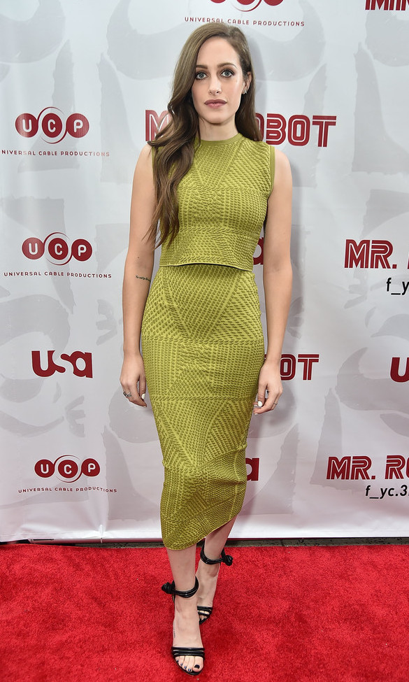 Carly Chaikin wearing Sophie Theallet Mr Robot FYC Screening.jpg