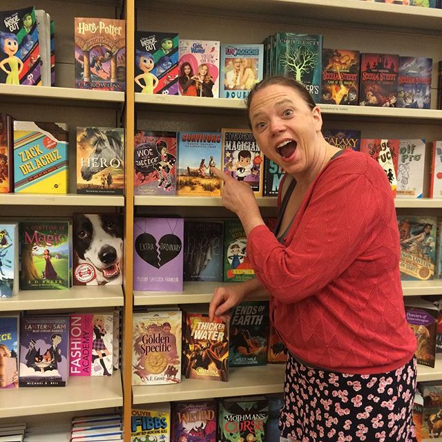 When we found book 2 in Bethesda, MD, Barnes & Noble! #rollerderby #derbygirl #girlpower #dorothysderby