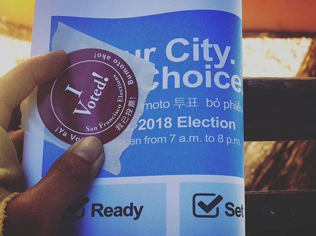 It is a great way to start the day by #exercising our right to vote. Even within a paradigm where candidates do not mirror our exact #politics, we can voice our opposition to those that do not represent our values at all. #vote #freedom #democracy limited.