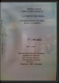 Pas seulement un pieds dans la porte