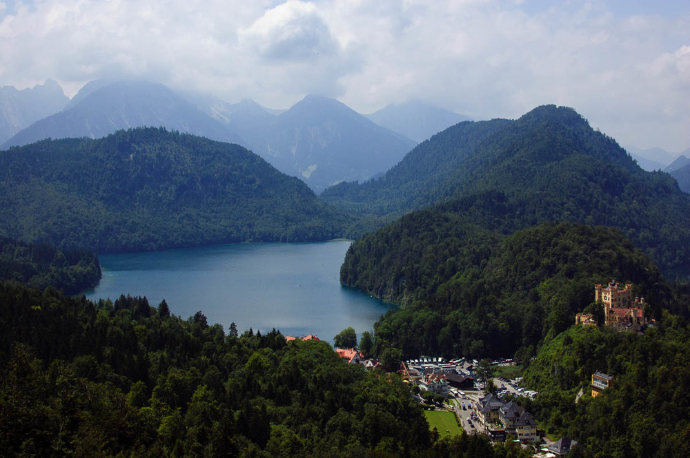 View from atop Neuschwanstein