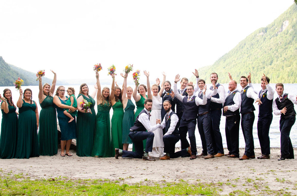 lake willoughy bridal party