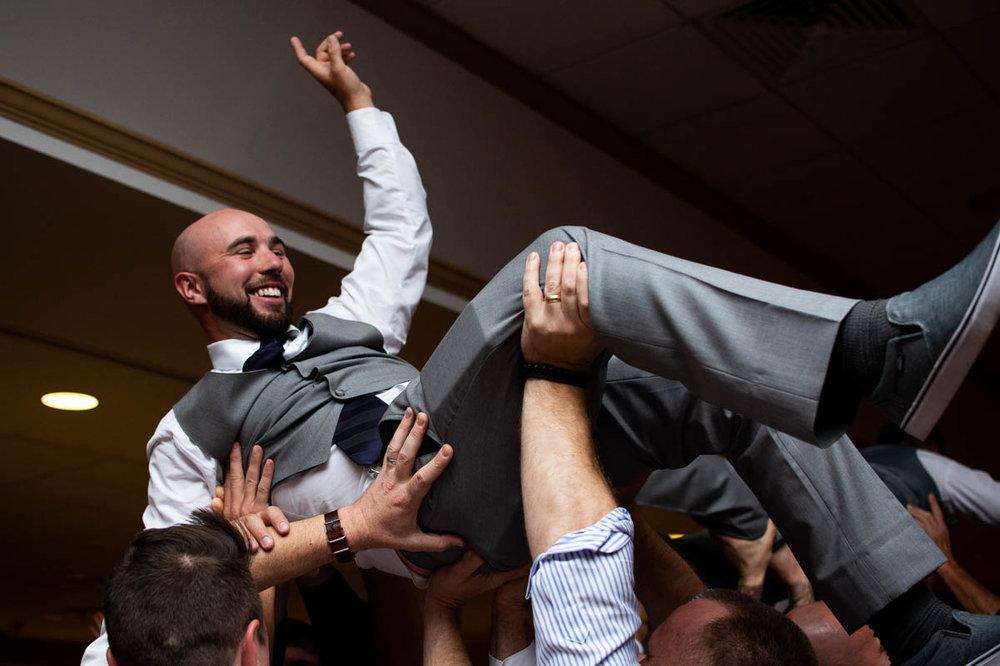 killington vermont wedding reception crowd surfer