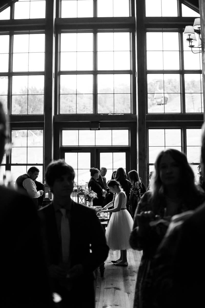 stratton vermont wedding reception child silhouette