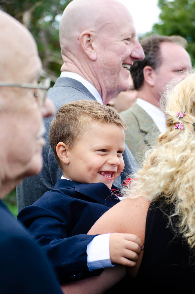 vermont backyard wedding child guest