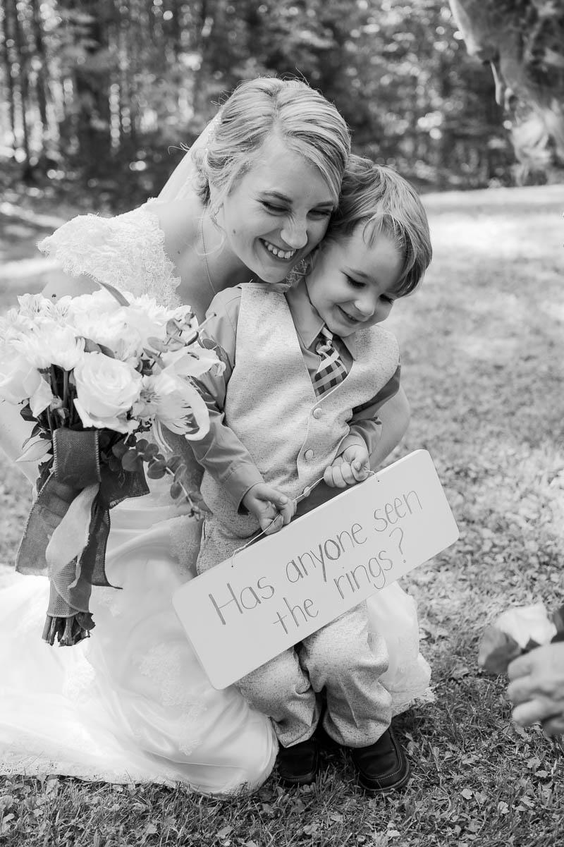maine backyard wedding mother son portrait