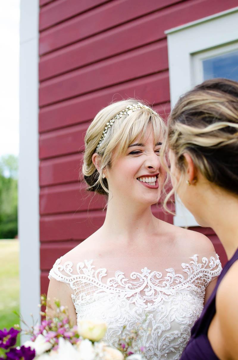 mansfield barn goofy bridal portrait