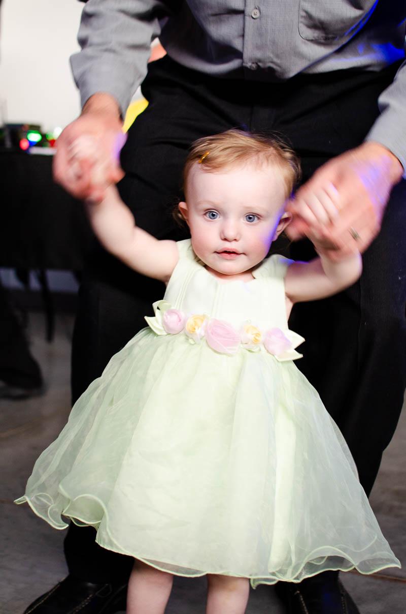 new england wedding reception child dancing