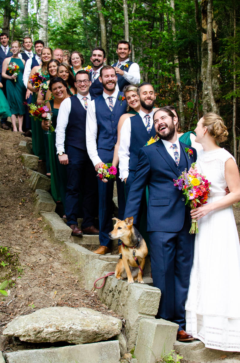 lake willoughby vermont large bridal party