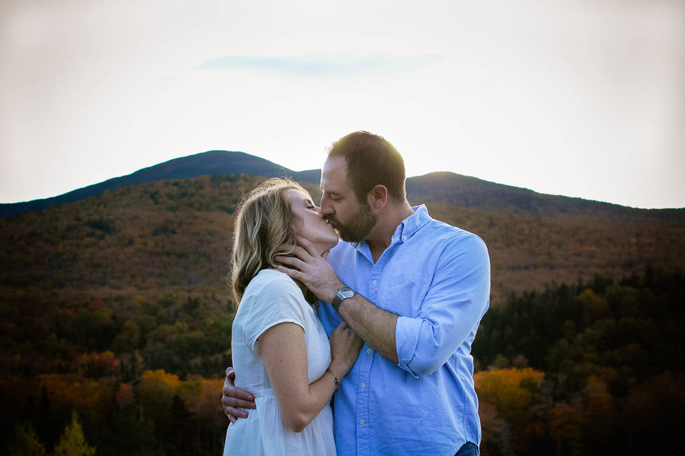 crawford notch new hampshire fall engagement photos