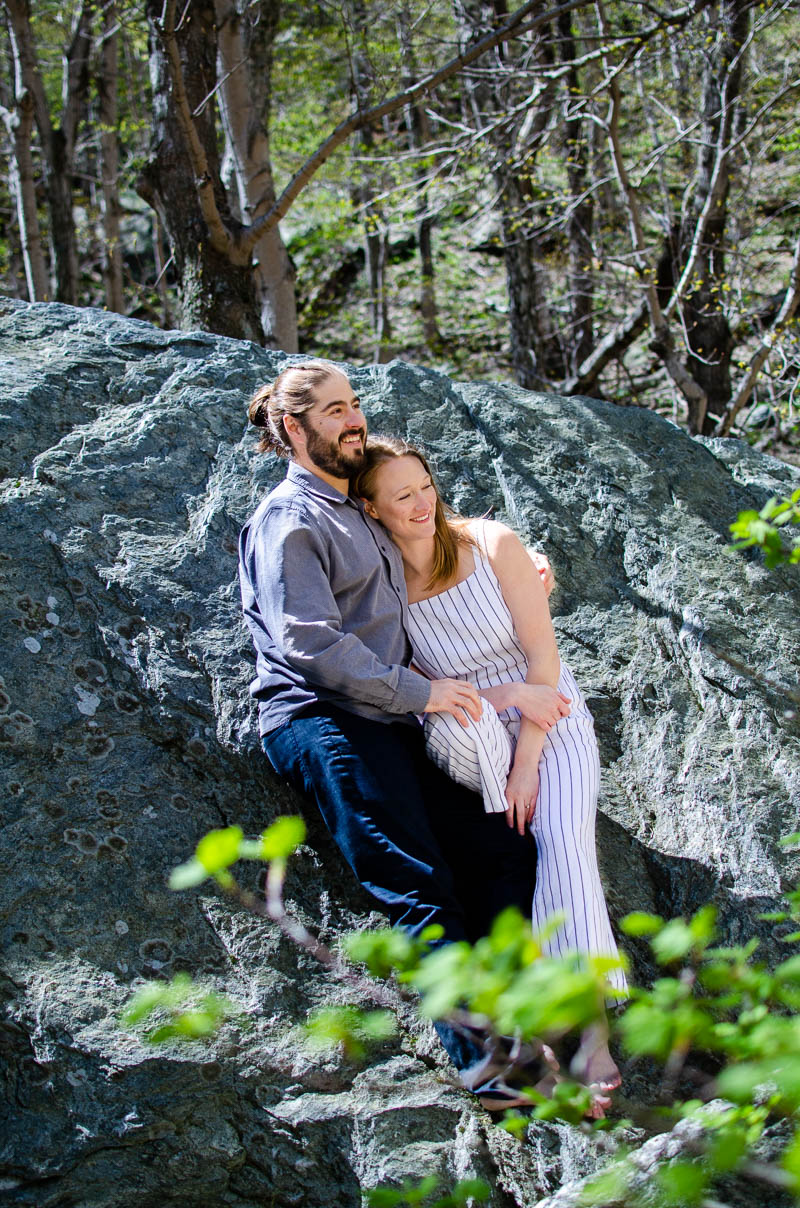 stowe vermont woodland engagment photos